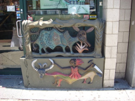 African theme storefront grill