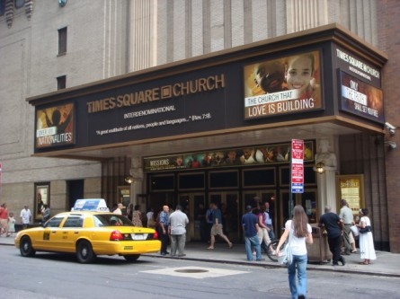 Times Square Church main entrance 2