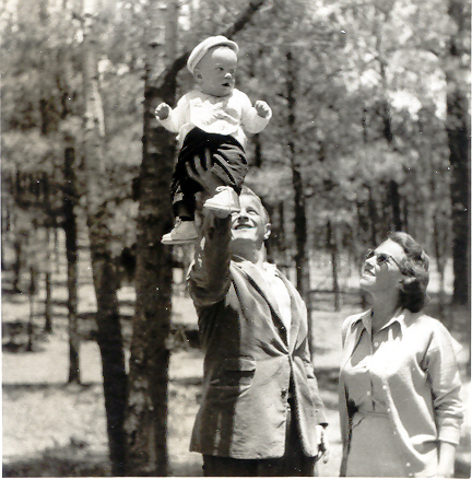My Dad, Mom, and Mark on May 26 1955