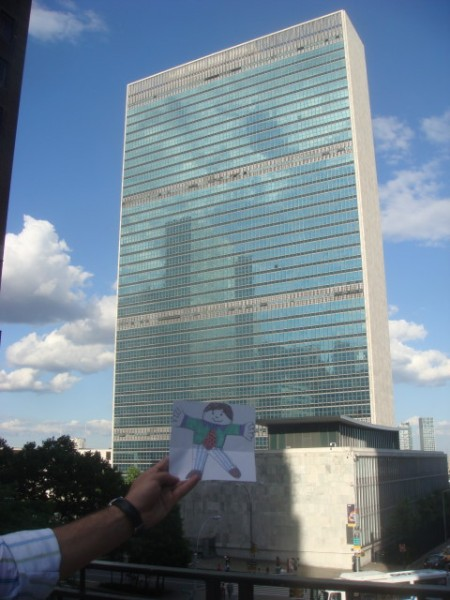 20090708 01 Flat Stanley and the UN