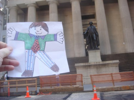 20090711 Flat Stanley 06 Federal Hall