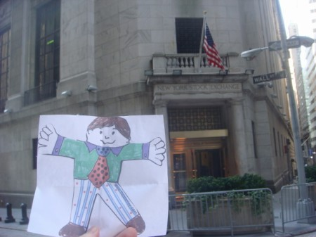 20090711 Flat Stanley 07 Stock Exchange